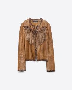 Veste en cuir - Zara - 159,00€