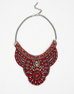 collier rouge asos