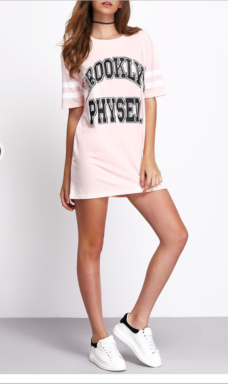 Robe t-shirt imprimé lettres
